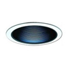 "Elco Lighting 6"" Line Voltage Trim with Metal Step Black Baffle-White"