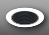 "Elco Lighting 5"" Line Voltage Trim Phenolic Black Baffle and Coil Spring-White"