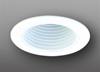 "Elco Lighting 5"" Line Voltage Trim with Phenolic Baffle and Coil Spring-White"