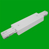 Elco Lighting Track Straight Connector-White