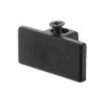 Elco Lighting Track Dead End Cap-Black