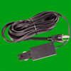 Elco Lighting 12' 3-Wire Cord and Grounded Plug Connector-Black