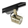 Elco Lighting Low Voltage Electronic Cylinder Track Fixture-Black Gold Cylinder
