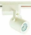 Elco Lighting Low Voltage Electronic Round Back Track Fixture-All White