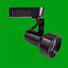 Elco Lighting Low Voltage Step Cylinder Track Fixture-Black