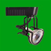 Elco Lighting Low Voltage Electronic Wireform Track Fixture-Black