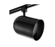 Elco Lighting Line Voltage PAR 38 Round Back Cylinder Track Fixture-Black