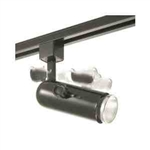 Elco Lighting Line Voltage Round Back Universal Track Fixture-Black