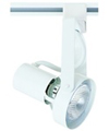 Elco Lighting Line Voltage PAR 20 Front Loading Gimbal Track Fixture-White