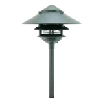 "Focus Lighting 12V 18W 10"" Three Tier Pagoda Hat Area Light-Antique Verde"