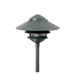 "Focus Lighting 12V 18W 10"" Three Tier Pagoda Hat Area Light-Black Texture"