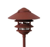 "Focus Lighting 12V 18W 6"" Four Tier Pagoda Hat Area Light-Antique Verde"