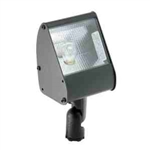 "12V 18W 3.5"" Aluminum Directional Floodlight High-Impact Clear Lens-Black"