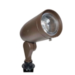 120V 50W ALum Bullet Directional Light w-Extension Cap Lens-Bronze Texture