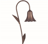 "Focus Lighting 12V 18W 4.5"" Alum Tulip Hat with Leaves Path Light-Antique Verde"