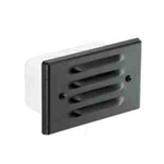 Focus Lighting 12V 18W Stamped Alum Four Louver Step Light-Black Texture