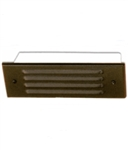 36W Stamped Aluminum Four Louver Brick Step Light-Black Texture