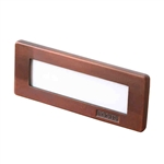 36W Aluminum Brick Step Light with White Acrylic Lens-Bronze Texture