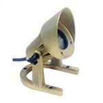 20W Brass Underwater Light with Angle Collar-Black Acid Treatment