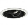 "Halo 6"" Low Voltage Pinhole Trim-White with Black Baffle and Lampholder"
