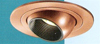 "Halo 4"" Low Voltage Trim with Adjustable Eyeball-Antique Copper Black Baffle"