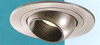 "Halo 4"" Low Voltage Trim with Adjustable Eyeball-Satin Nickel with Black Baffle"