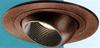 "Halo 4"" Low Voltage Trim with Adjustable Eyeball-Tuscan Bronze Black Baffle"