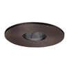 "Halo 3"" Low Voltage Pinhole Trim-Tuscan Bronze with Black Adjustable Baffle"