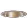 "Halo 6"" Line Voltage Trim and Baffle-Satin Nickel"