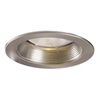 "Halo 5"" Line Voltage Metal Splay Trim and Baffle-Satin Nickel"