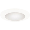 "Halo 6"" Line Voltage Albalite Shower Trim-White"