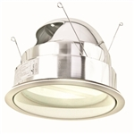 "Halo 7"" Compact Fluorescent Trim with Frosted Albalite Lens-White"