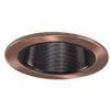 "Halo 4"" Line Voltage Trim with Black Baffle-Antique Copper"