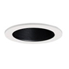 "Halo 4"" Line Voltage Trim with Black Baffle-White"