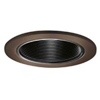 "Halo 4 "" Line Voltage Trim with Black Coilex Baffle-Tuscan Bronze"