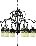 Kichler 15408 Almeria 12V Outdoor Chandelier - Low Voltage Specialty Lighting