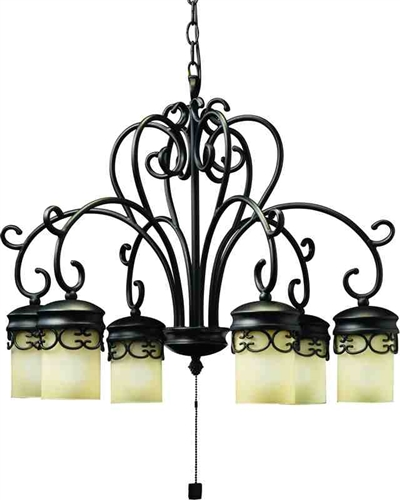 Low Voltage Outdoor Chandelier: Kichler 15408 Almeria 12V Outdoor Chandelier