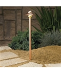 Kichler 15430 Santa Barbara Small Copper 10W Low Voltage Path & Spread Light
