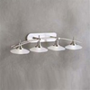 Kichler 4-Light Structures Wall Mount Bath Light-Brushed Nickel