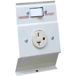 Cadet LTF240W Baseboard Heater 240V Load Transfer Switch & Receptacle - White