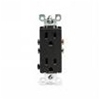 Leviton 20A Decora Plus Duplex Receptacle Commercial Grade-Black