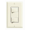 Decora Dual Rocker Combo Switch Commercial Grade Single-Pole-Almond
