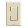 Leviton Decora Dual Rocker Combo Switch Commercial Grade Single-Pole-Ivory