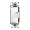 Decora Dual Rocker Combo Switch Commercial Grade Single-Pole-Light Almond
