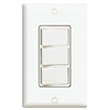 Decora Three Rocker Combo Switch Commercial Grade Single-Pole-White