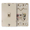Telephone Wall Jack with Hanging Pins Type 630A 1 Modular 6P4C Jack-Ivory