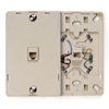 Telephone Wall Jack with Hanging Pins Type 630A 1 Modular 6P6C Jack-Ivory
