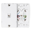 Telephone Wall Jack with Hanging Pins Type 630A 1 Modular 6P6C Jack-White
