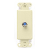 Leviton Decora Insert Flush Mount CATV Video 1 F-Type Jack-Almond
