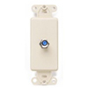 Leviton Decora Insert Flush Mount CATV Video 1 F-Type Jack-Ivory